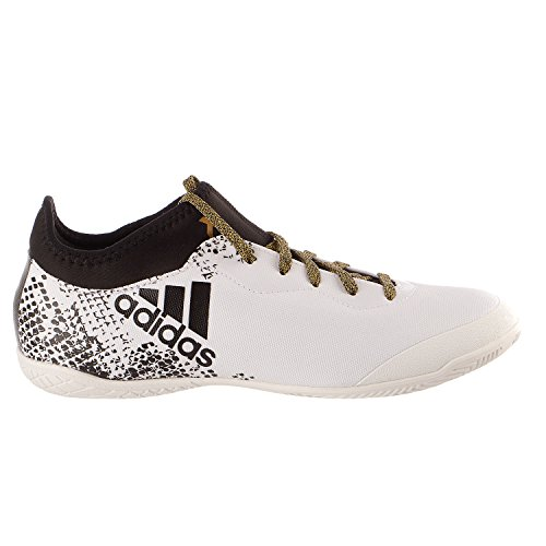 de9f5c0822f ... wholesale adidas performance mens x 16.3 court soccer shoe white black  metallic gold 11 m us