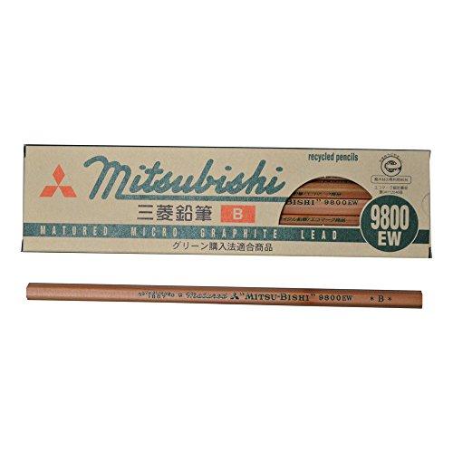 Mitsubishi Pencil pencil recycling pencil 9800EW hardness B K9800EWB