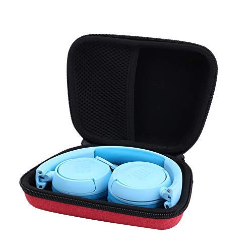 Hard Storge Case for JBL JR 300BT/ JR 300/JBL Kids On-Ear Wireless Headphones by Aenllosi (red)