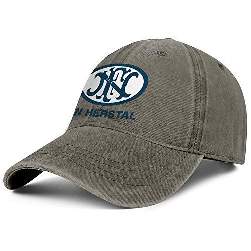 - ZTZWZQ Fn Herstal Logo Women Men Denim Caps Retro Skull Cowboy Hats