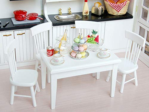 NATFUR Vintage Dollhouse Miniature Furniture Dining Room Porcelain Tea Set 12th ()