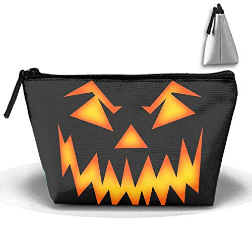 Cosmetic Bags Brush Pouch Scary Halloween Face Portable Makeup Bag Zipper Trapezoidal Strorege Bag ()