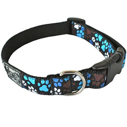 (RC Pet Products 1-Inch Adjustable 15 to 25-Inch Dog Clip Collar, Large, Pitter Patter Chocolate)