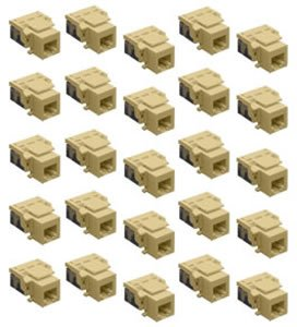 IC1076VCIV - 25PK Cat3 Jck 6Con. - Ivory by ICC
