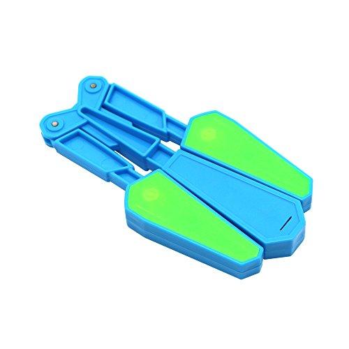 Mandarooker Flip Finz LED Finger Flip Finz Decompression Fidget Toys for Finger Exercises,Exercise Your Concentration, Coordination and Patience(Blue)