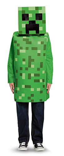 The Creeper Minecraft Costume (Creeper Classic Minecraft Costume, Green, Medium (7-8))
