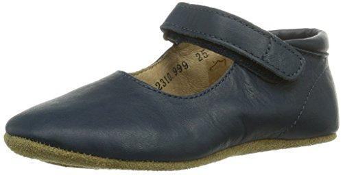 Bisgaard HOME SHOE BALLERINA - Zapatillas de estar por casa de cuero para niño rosa rosa azul - Blau (21 Navy)