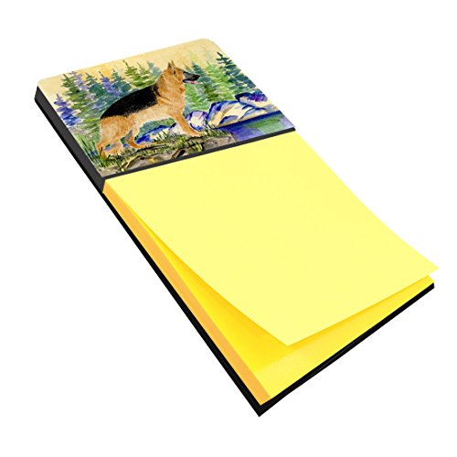 Caroline's Treasures German Shepherd Refillable Sticky Note Holder or Postit Note Dispenser, 3.25 by 5.5