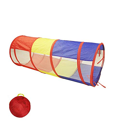 (Sviper Kids Play Tunnels Children's Tent Tunnel Folding Portable Magic Baby Toy Room Drill Hole Tube Climbing Tube,Sunlight Crawling Tunnel Pop Up Tunnel Gift Toy (Color : B))