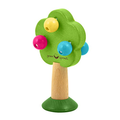 green sprouts Tree Rattle Made
