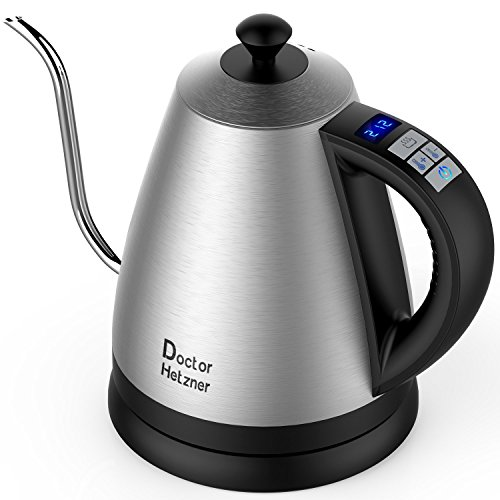 Electric Gooseneck Kettle with Preset Variable Heat Settings Only $29.99