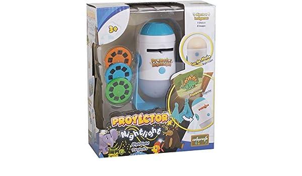 COLEPROFE Proyector con 3 Discos y 8 Dibujos: Amazon.es: Juguetes ...