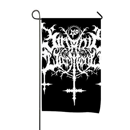 Sophia Emma Welcome Friends Dark Gothic Satanic Cross Garden Flag Holiday Decoration Double Sided Flag 27 × 39