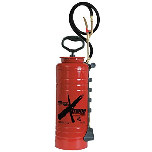 Chapin 19049 Industrial Xtreme Tri-Poxy Concrete Sprayer, 3.5-Gallon, Red (Best All Purpose Weed Killer)