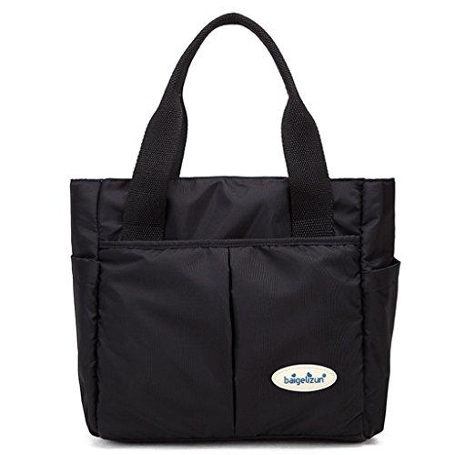 Mommy Bag Madre-en-ley Múltiples Paquete Madre Bolsa Fuera Bolsa Bolsa Portátil ( Color : Negro ) Negro