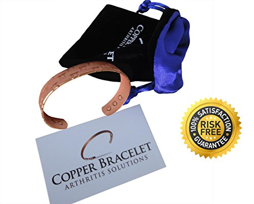 Men's Heavyweight Copper Bracelet for Arthritis - GUARANTEED 99.9% PURE Copper Magnetic Bracelet With 6 Powerful Magnets For Effective Relief Of Joint Pain, Arthritis, RSI, & Carpal Tunnel!
