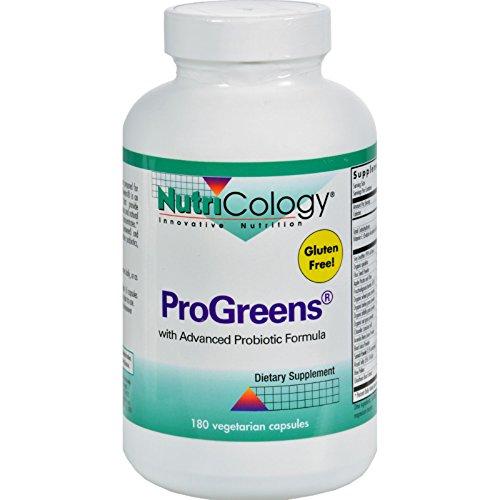 NutriCology ProGreens With Advanced Probiotics Formula - 180 Capsules