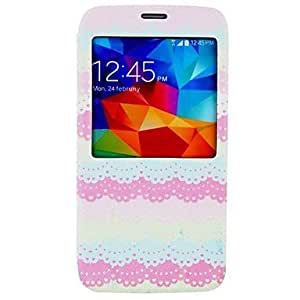 MOM Lace Pattern PU Leather Full Body Case for Samsung Galaxy S5 I9600