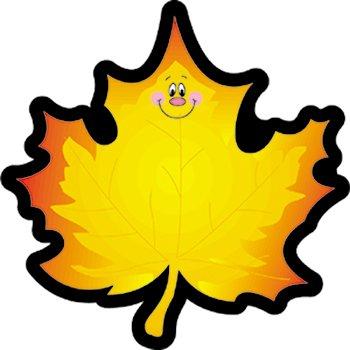 Colorful Cut-outs Maple Leaf 36/pk