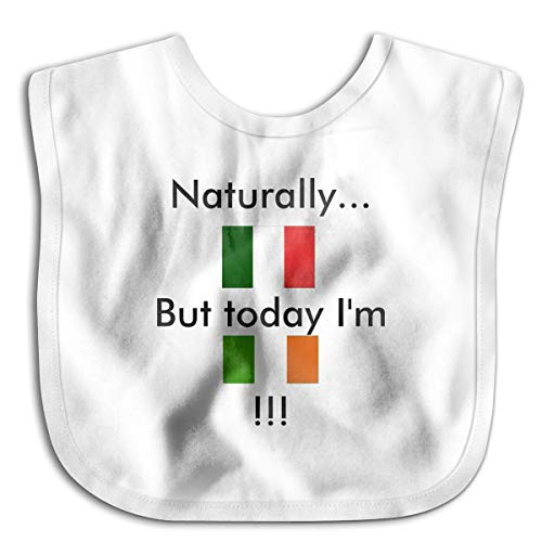 Naturally Italian But Today Im Irish Infant Toddler Bibs Super Absorbent Cute Prints Baby Bib Funny Baby Shower - Gift
