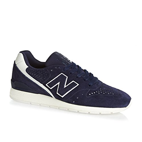 New Balance Herren 996 Leather Sneaker, Grau Blau