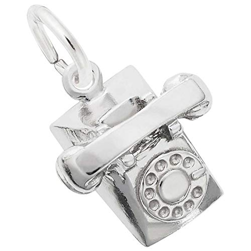 (Rembrandt Charms Telephone Charm, Sterling Silver)