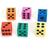 Big Foam Playing Dice (4-Pack of 12)
