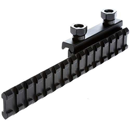 Yosoo Hunting Tactical Dovetail Picatinny Flat Top Adapter Extend Extened Weaver 20mm Scope Rail Riser Base (Flat Rail Base)