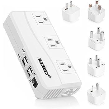 Amazon.com: BESTEK International Power Adapter, 220V to 110V Step ...