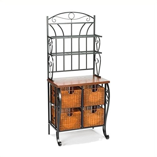 Southern Enterprises Wrought Iron Bakers Rack by Southern Enterprises