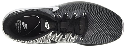 Nike Mens Tanjun Fabric Low Top Lace Up, Dark Grey/White/Black, Size 10.5