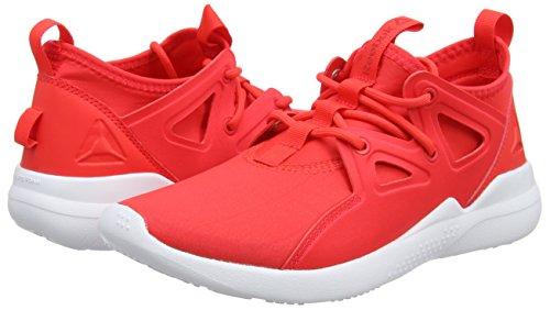 Red White dayglow Mujer Deporte Zapatillas De Cardio Reebok Para Rojo Motion wFqggR