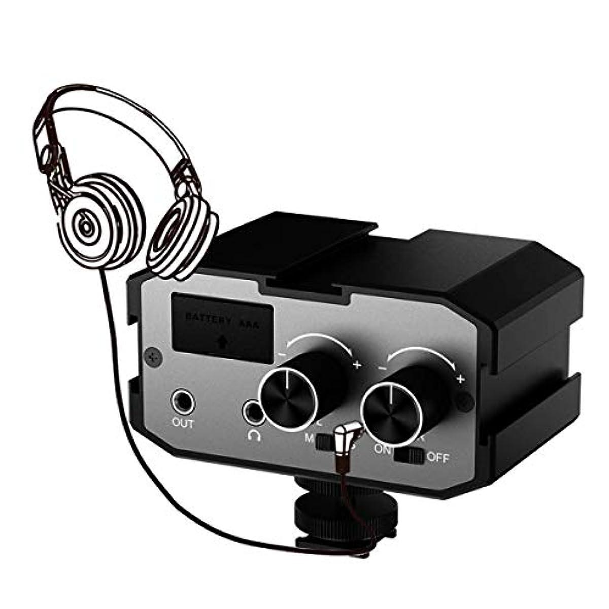 [해외] COMICA 오디오 믹서 어댑터 스테레오 믹서 조정기 듀얼 채널3.5MM포토 CANON NIKON SONY PANASONIC DSLR카메라나 비디오 카메라에 대응 CVM-AX1