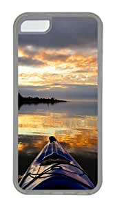Wholesale iPhone 5C Case, iPhone 5C Cases -Sunset From Kayak TPU Rubber Soft Case Back Cover for iPhone 5C¡§CTransparent