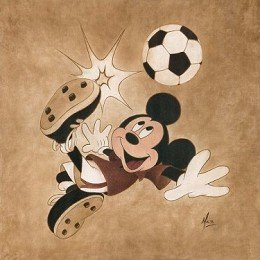 World Cup Soccer Mickey Mouse Kick for the Goal Disney Fine Art Kupka by Mike Kupka