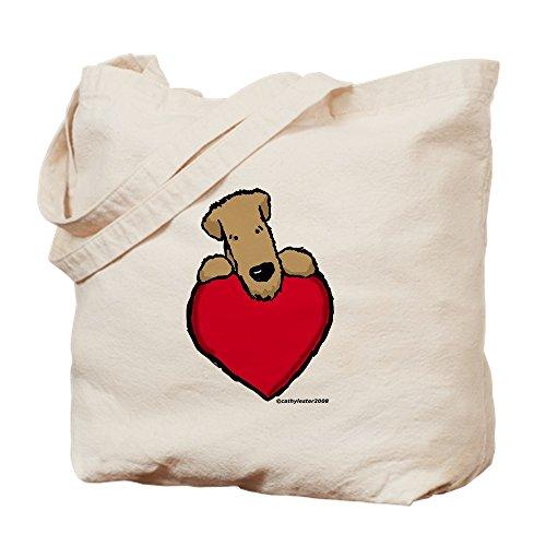CafePress–scwt corazón–Gamuza de bolsa de lona bolsa, bolsa de la compra Small caqui