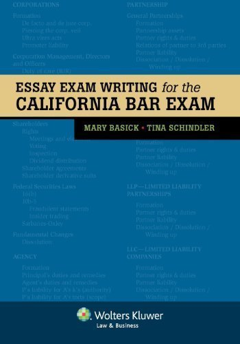 Essay Exam Writing for the California Bar Exam by Mary Basick Published by Aspen Publishers (2012) Paperback