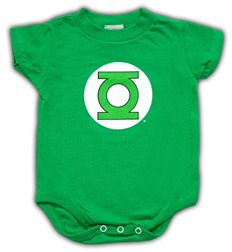 Green Lantern Logo Kelly Green Snapsuit Infant