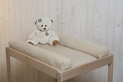 Washable Wool Changing Table Mattress Pad / Zippered Cover / 100% Oeko-Tex Certified Wool Filling / Non - Toxic Bedding / Natural Color / Custom Sizes & Shapes & Fabrics Available / Made - to - Order (Wicker Furniture Ikea)