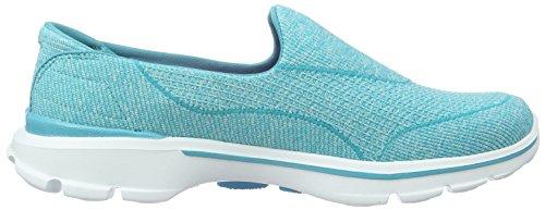 Skechers Go Walk 3niche - Zapatillas Mujer Azul - Blau (AQUA)