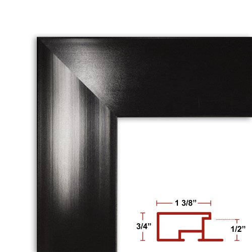 39 x 55 Shiny Black Poster Frame - Profile: #99 Custom Size Picture Frame (Frame For 55 X 39 compare prices)