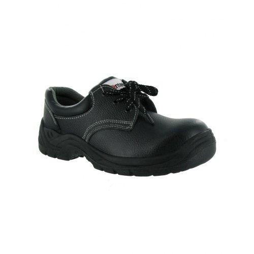 Centek Mens FS337 Leather S1 Work Safety Shoe Black Black