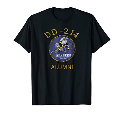 Navy Seabees Shirt DD 214 Alumni Vintage T Shirt