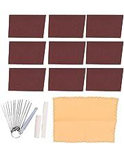 Guitar Polishing Sandpaper Set, Stainless Steel Bridge Saddle Nut Files Kit DIY Maintain for Stage