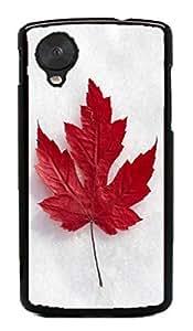 Canada Flag Hard Case for Google Nexus 5 LG ( Flower Flowering Rose ) by ruishername