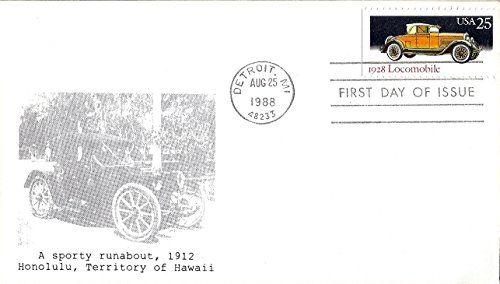 First Day Cover 1988 US #2381 Car Series (1928 Locomobile) 25 Cent Postage (2381 Series)