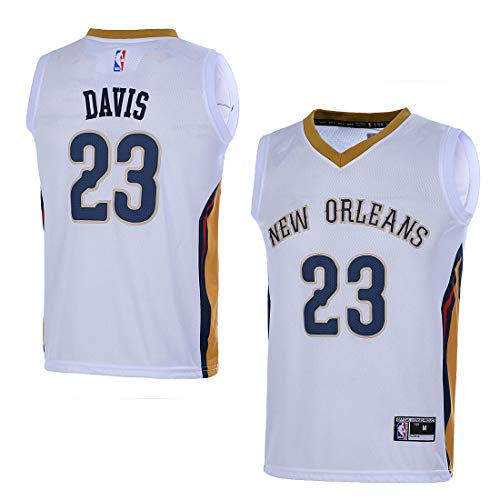 Outerstuff Youth NBA 8-20 New Orleans Pelicans #23 Anthony Davis Swingman Jersey White (YTH Large 14/16)