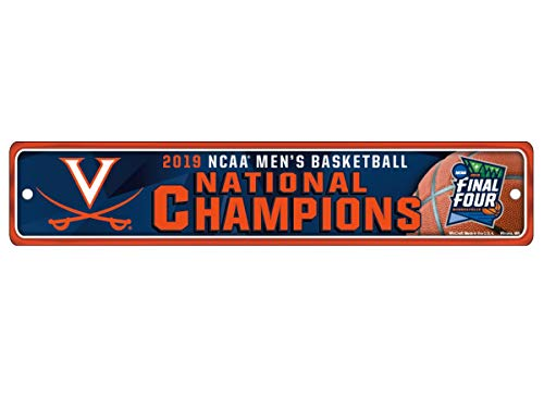 WinCraft Virginia Cavaliers 2019 NCAA Basketball National Champions Plastic Street Sign