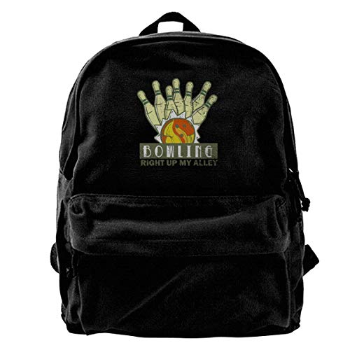 Up Vintage Men's Bowling My Alley Shoulder Canvas Right Backpack Fregrthtg P0ZBII