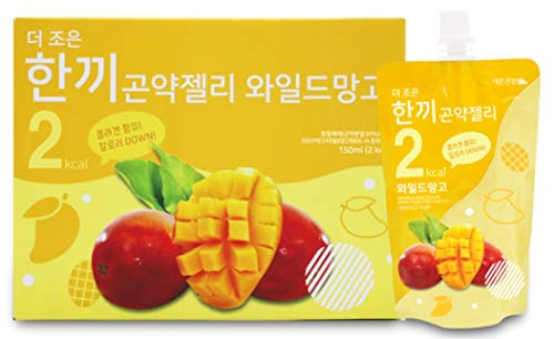 One Meal 2 Kcal Wild Mango Flavor Konjac Jelly Collagen Diet Food Weight Loss Vitamin C (1 Box 10 Packs)